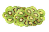 Kiwi slices isolated on white background — ストック写真
