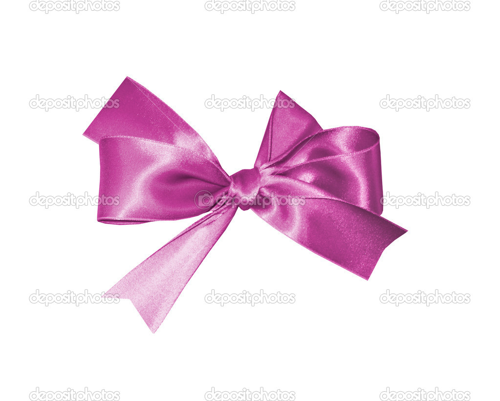 Pink bow isolated on white background  Stock Photo #7671628