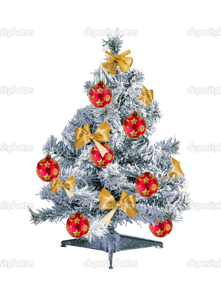 Christmas tree isolated on the white background — Stock Photo #7671630