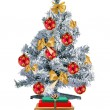 Royalty-Free Stock Photo: Christmas tree and gift boxes isolated on the white background