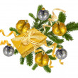 Royalty-Free Stock Photo: Christmas concept with decoration and giftbox
