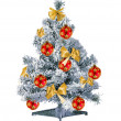 图库照片: Christmas tree isolated on white background