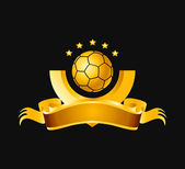 A soccer or football logo in golden yellow. — Stock Photo