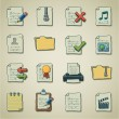 Freehands icons - files and folders — 图库矢量图片