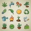 Freehands icons - ecology — Stock Vector