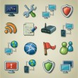 Freehands icons - networking — Stock Vector