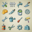 Royalty-Free Stock Векторное изображение: Freehands icons - tools