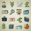 Royalty-Free Stock Vector Image: Freehands icons - banking