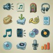Stock Vector: Freehands icons - audio & sound