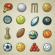 Stock Vector: Freehands icons - sports