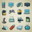 Royalty-Free Stock Vector Image: Freehands icons - computers & electronics