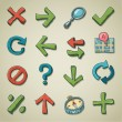 Freehands icons - navigation — Stock Vector #6751122