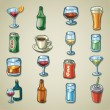Stock Vector: Freehands icons - beverages