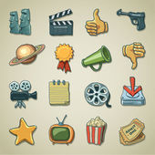 Freehands icons - movie — Stock Vector