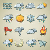 Freehands icons - weather — Stock Vector