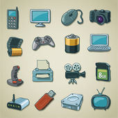 Freehands icons - computers & electronics — Stock Vector