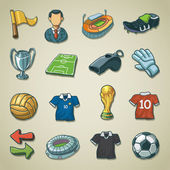 Freehands icons - Soccer — Stock Vector