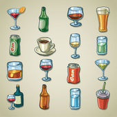 Freehands icons - beverages — Stock Vector