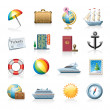 Travel icon set - Imagens vectoriais em stock