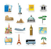 Travel icon set — Vector de stock