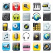Audio icons — Stock Vector #6823049