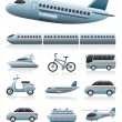 Transportation icons — Image vectorielle
