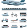 Transportation icons - Image vectorielle