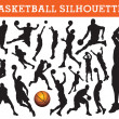 Basketball silhouettes — Stock Vector #6826388