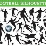 Football silhouettes — Stock Vector #6826391