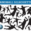 Handball silhouettes - Stock Vector
