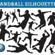 Handball silhouettes — Stock Vector #6826392