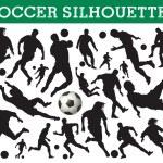 サッカーのシルエット — ストックベクタ #6826397