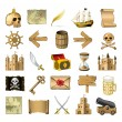 Pirate icons — Stock Vector #6826672