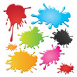 Stock Vector: color stains