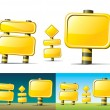 Yellow road signs — Imagen vectorial