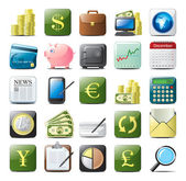 Financial icons — Stock Vector