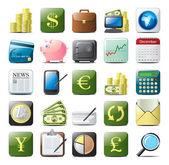 Financial icons — Stock Vector