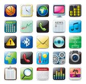 ícones multimídia — Vetorial Stock