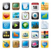 Multimedia pictogrammen — Stockvector