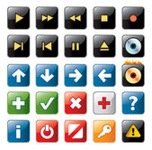 Navigation icons — Stock Vector