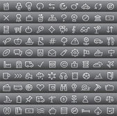 Simple icon set — Stock Vector
