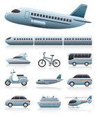Transport ikony — Wektor stockowy