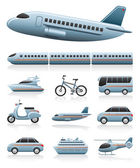 Transportation icons — Vettoriale Stock