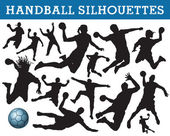 Handball silhouettes — Stock Vector