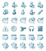 Ilustración de conjunto de iconos aislados en blanco. — Vector de stock
