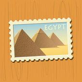 Piramidi egiziane — Vettoriale Stock