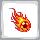 Boule de feu de football — Vecteur