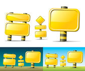 Yellow road signs — Vector de stock