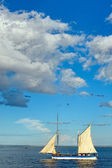 Traditional sailboat on the sea — Photo