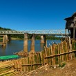 Pont de Brickaville et marchands de bambou - Stock Photo